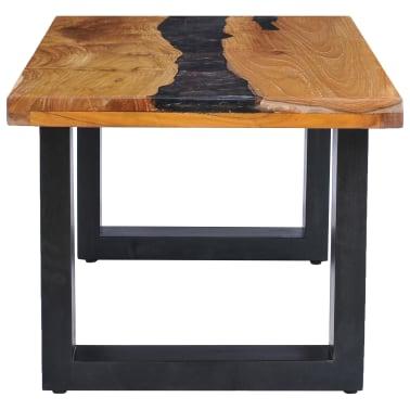 vidaXL Kavos staliukas, 100x50x40 cm, tikmedžio mediena ir sint. derva[4/13]