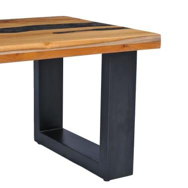 vidaXL Kavos staliukas, 100x50x40 cm, tikmedžio mediena ir sint. derva[5/13]