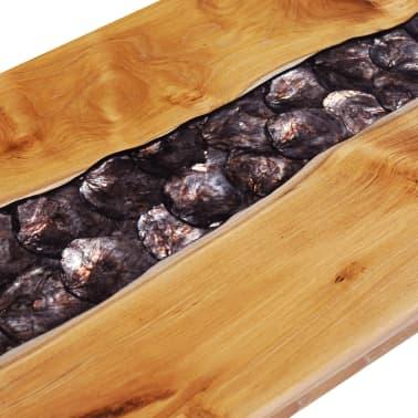 vidaXL Kavos staliukas, 100x50x40 cm, tikmedžio mediena ir sint. derva[6/13]
