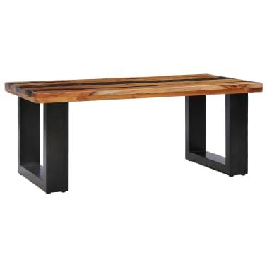 vidaXL Kavos staliukas, 100x50x40 cm, tikmedžio mediena ir sint. derva[9/13]