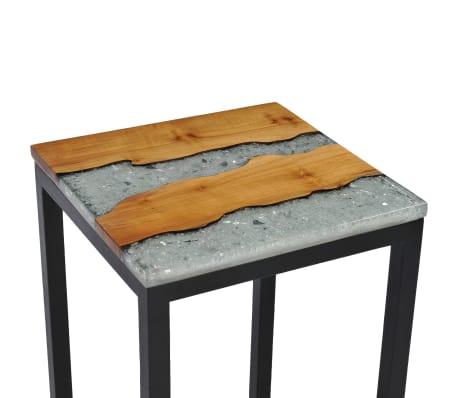 vidaXL Nesting Tables 3 pcs Solid Teak Wood and Polyresin[6/12]