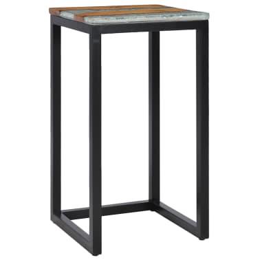 vidaXL Nesting Tables 3 pcs Solid Teak Wood and Polyresin[5/12]