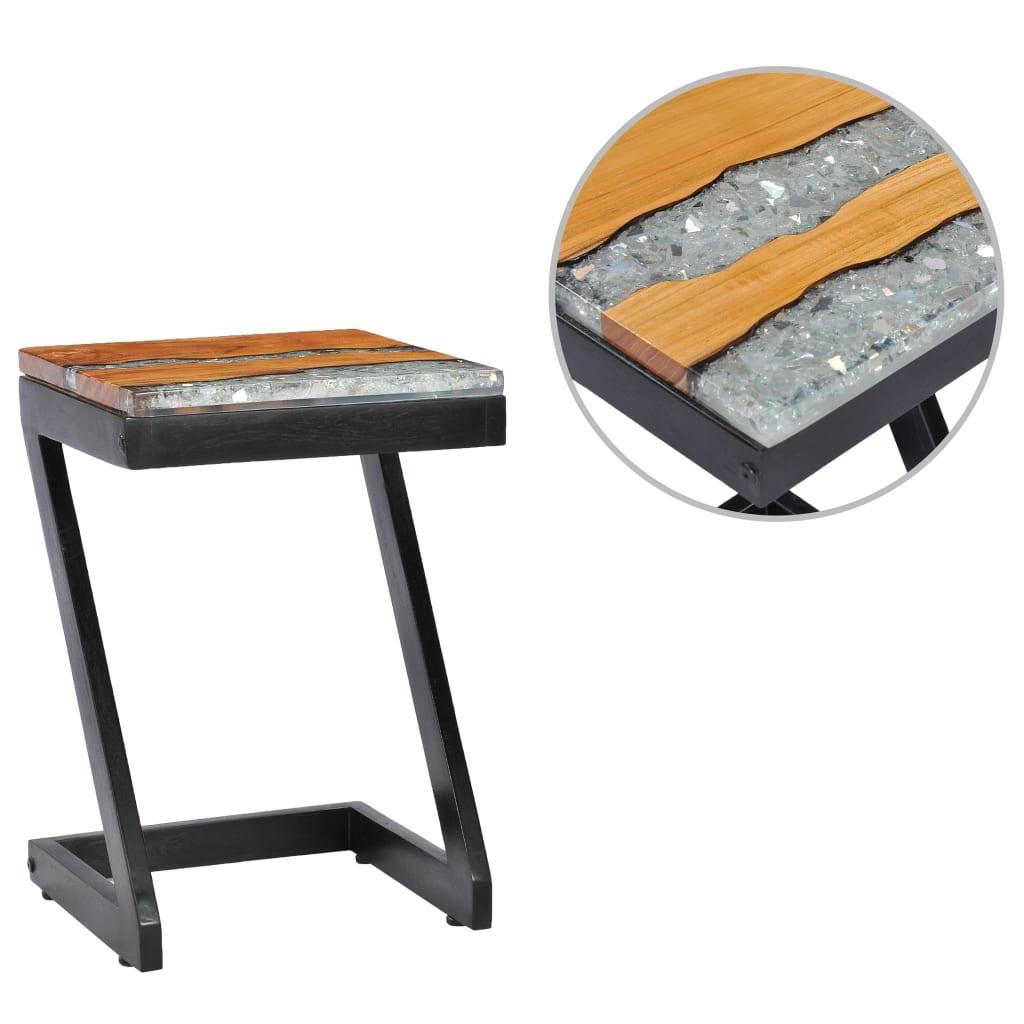 vidaXL Konferenční stolek 30 x 30 x 50 cm masivní teak a polyresin