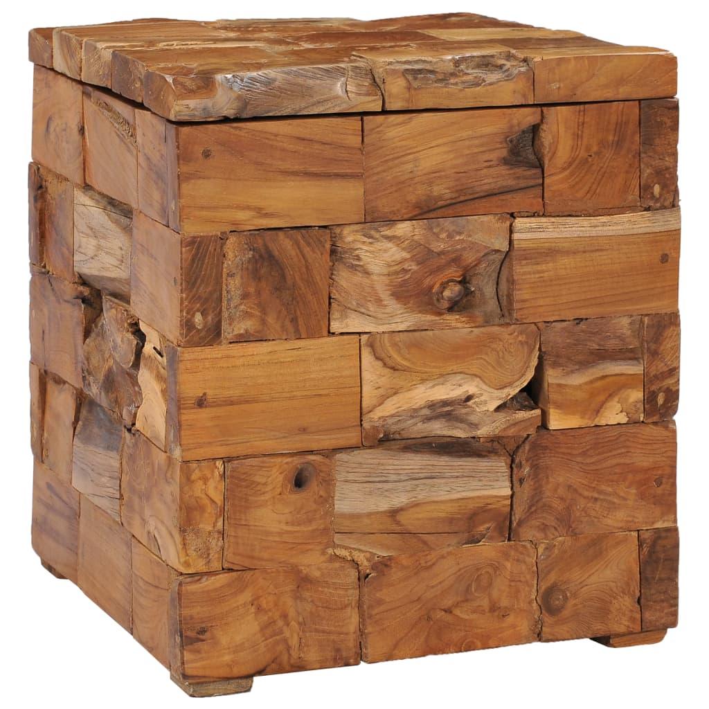vidaXL Taburet de depozitare, lemn masiv de tec poza vidaxl.ro