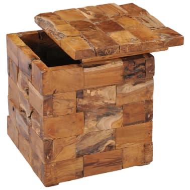 vidaXL Storage Stool Solid Teak Wood[2/11]