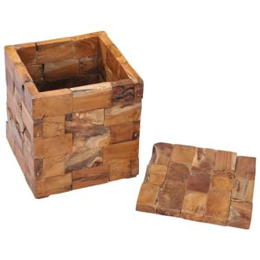 vidaXL Storage Stool Solid Teak Wood[3/11]