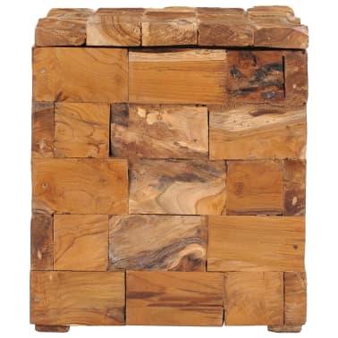 vidaXL Storage Stool Solid Teak Wood[4/11]