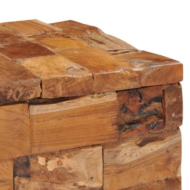 vidaXL Storage Stool Solid Teak Wood[5/11]