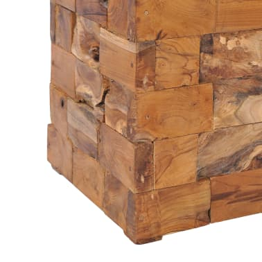 vidaXL Storage Stool Solid Teak Wood[6/11]
