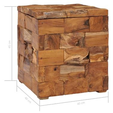 vidaXL Storage Stool Solid Teak Wood[7/11]