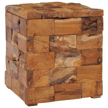 vidaXL Storage Stool Solid Teak Wood[9/11]