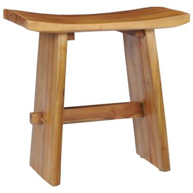 vidaXL Stool Solid Teak Wood[1/10]
