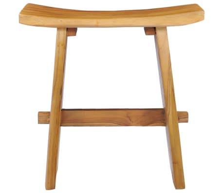 vidaXL Stool Solid Teak Wood[2/10]