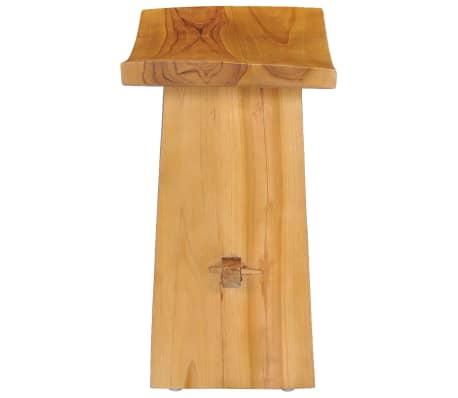vidaXL Stool Solid Teak Wood[3/10]