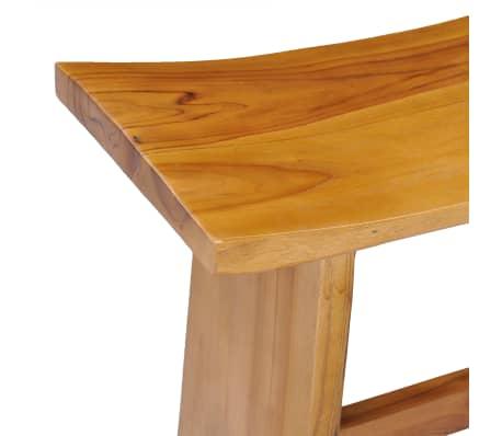vidaXL Stool Solid Teak Wood[4/10]