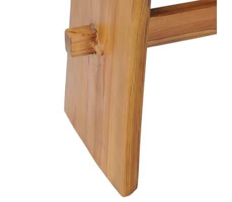 vidaXL Stool Solid Teak Wood[5/10]