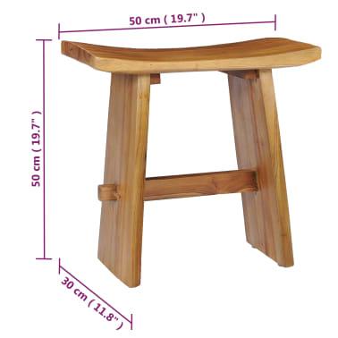 vidaXL Stool Solid Teak Wood[6/10]