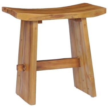 vidaXL Stool Solid Teak Wood[8/10]