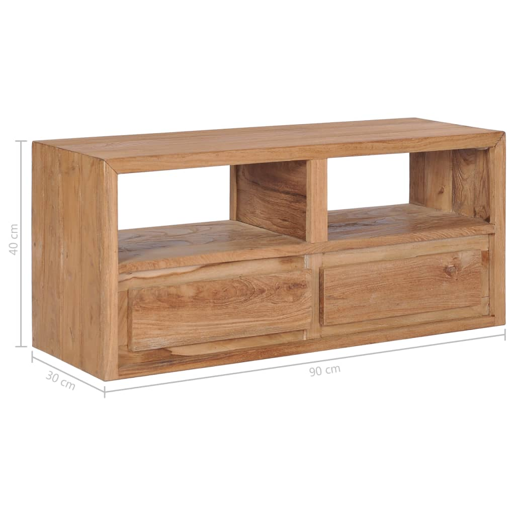 vidaXL Tv-meubel 90x30x40 cm massief teakhout