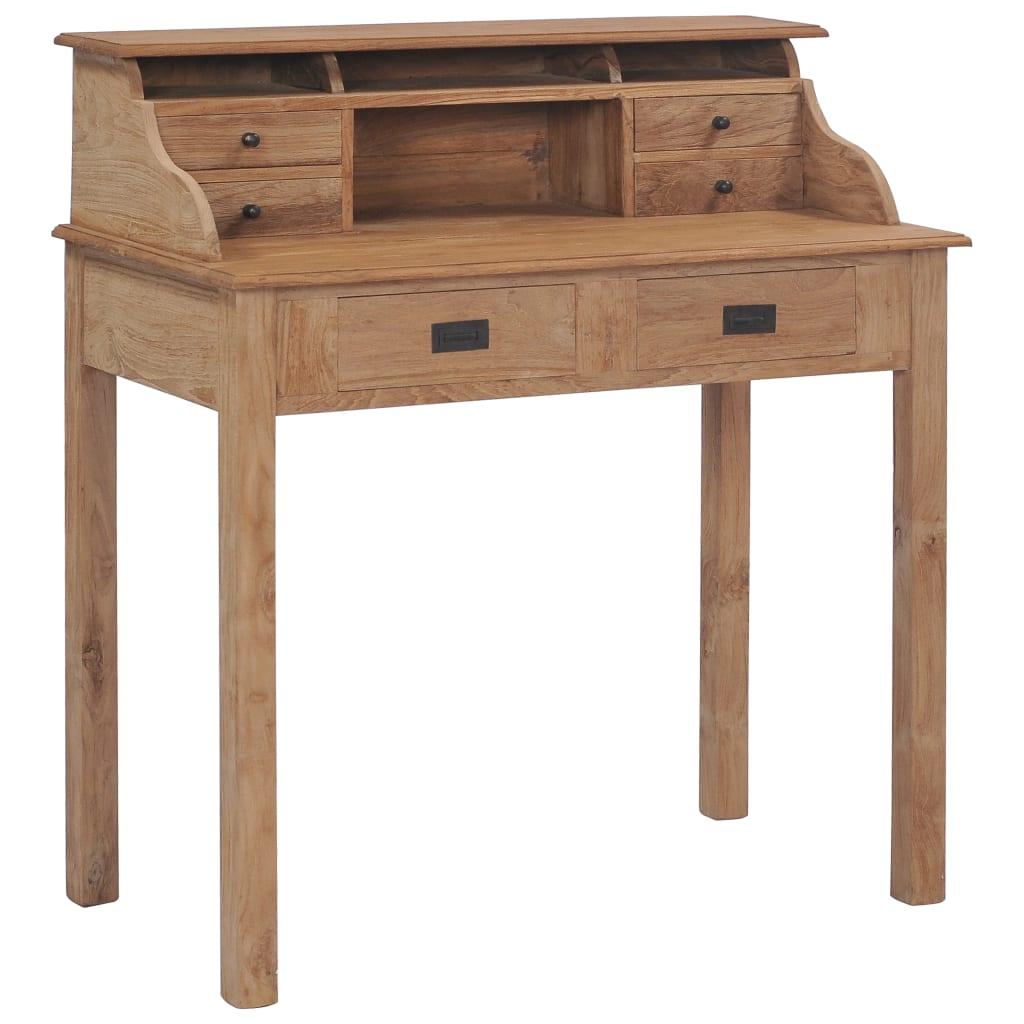 vidaXL Biurko, 90x50x100 cm, lite drewno tekowe