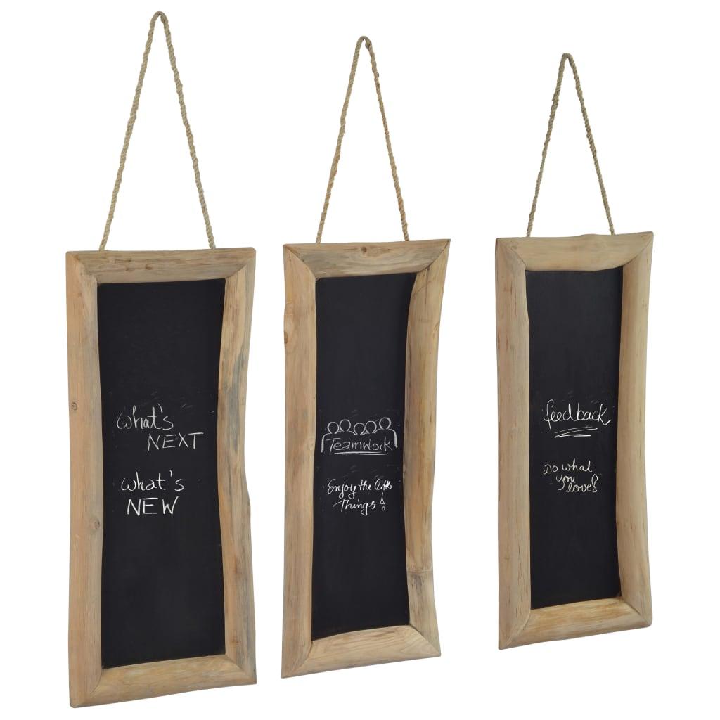 vidaXL Tabule 3 ks 30 x 70 cm masivní teakové dřevo