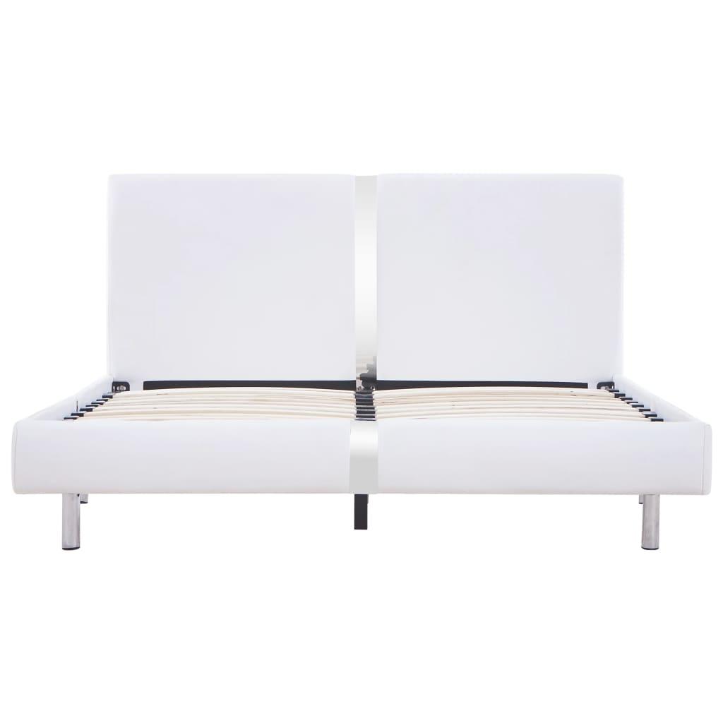 vidaXL Bedframe kunstleer wit 120x200 cm