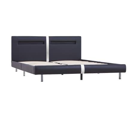 vidaXL Cadre de lit avec LED Noir Similicuir 160 x 200 cm[3/8]