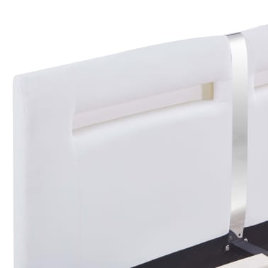 vidaXL Cadre de lit avec LED Blanc Similicuir 120 x 200 cm[6/8]