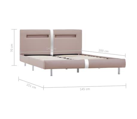 vidaXL Cadre de lit avec LED Cappuccino Similicuir 140 x 200 cm[8/8]