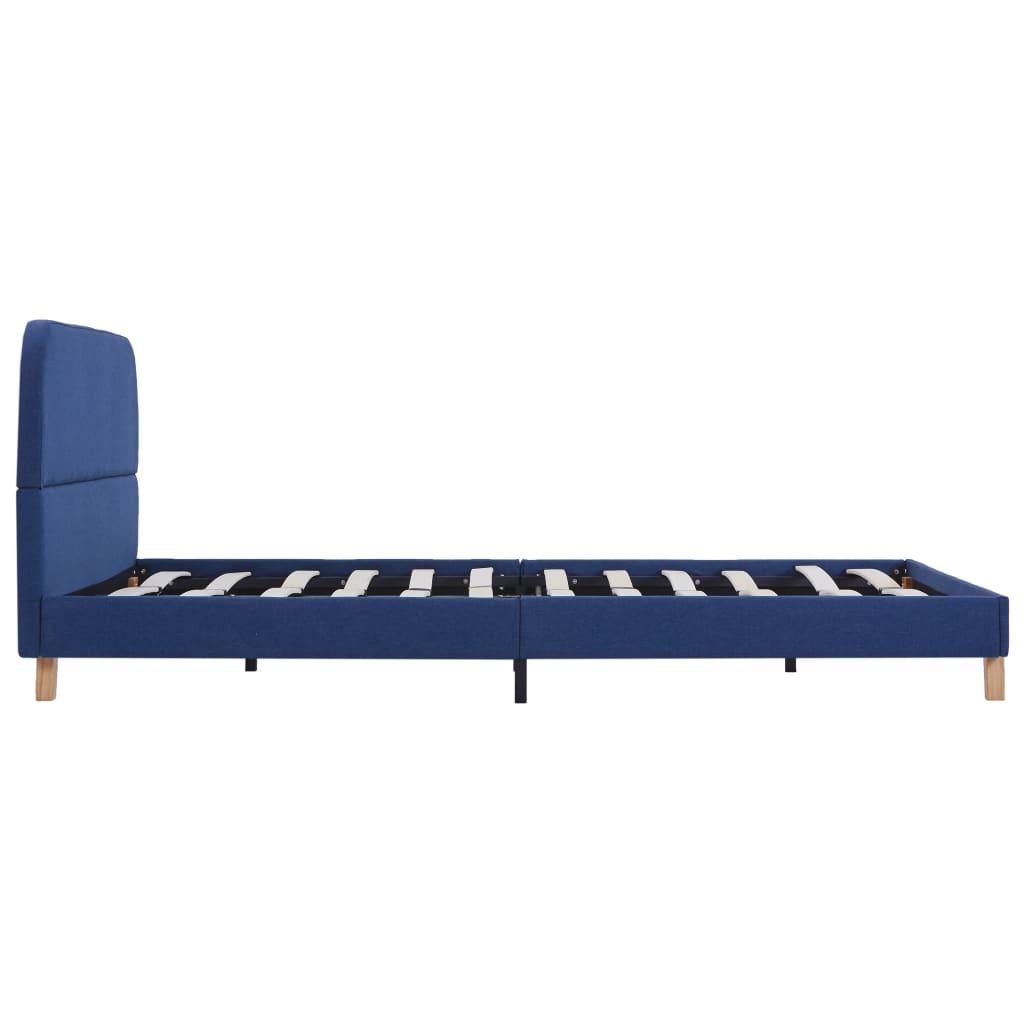 vidaXL Bedframe stof blauw 140x200 cm