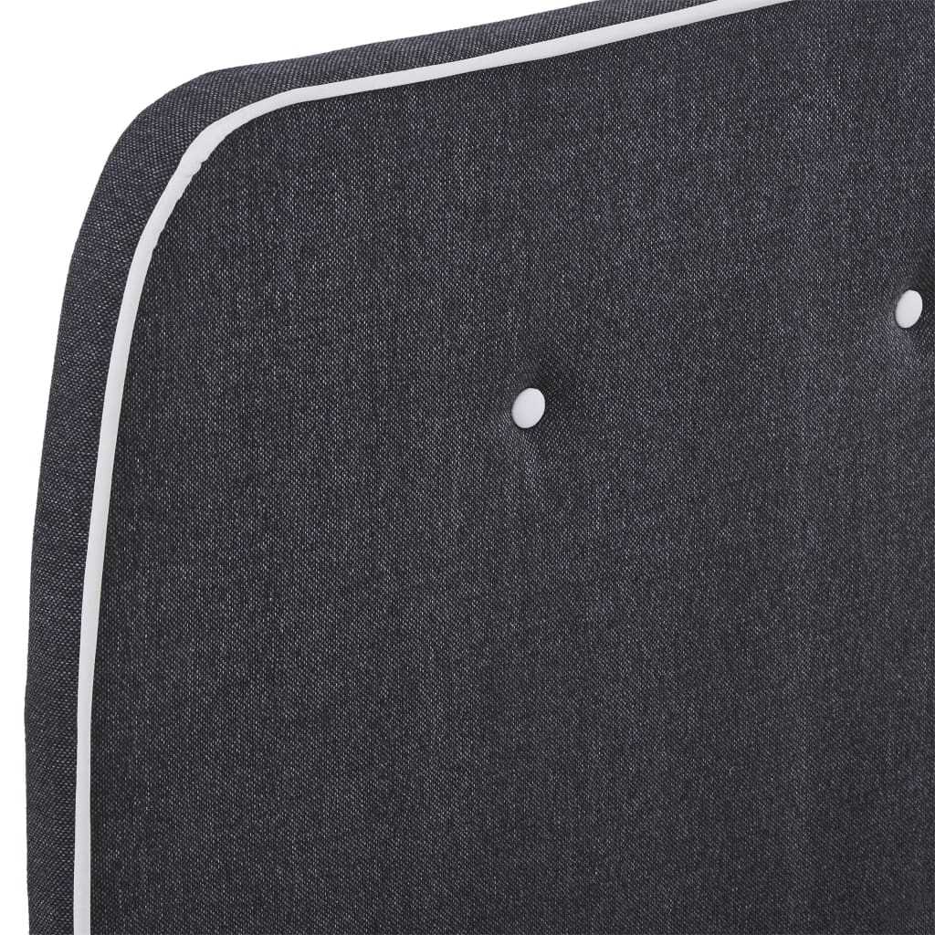 vidaXL Bedframe stof donkergrijs 120x200 cm
