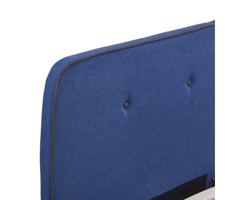 vidaXL Cadre de lit Bleu Tissu 180 x 200 cm[5/6]