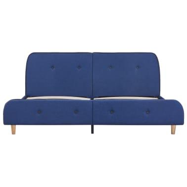 vidaXL Cadre de lit Bleu Tissu 180 x 200 cm[3/6]