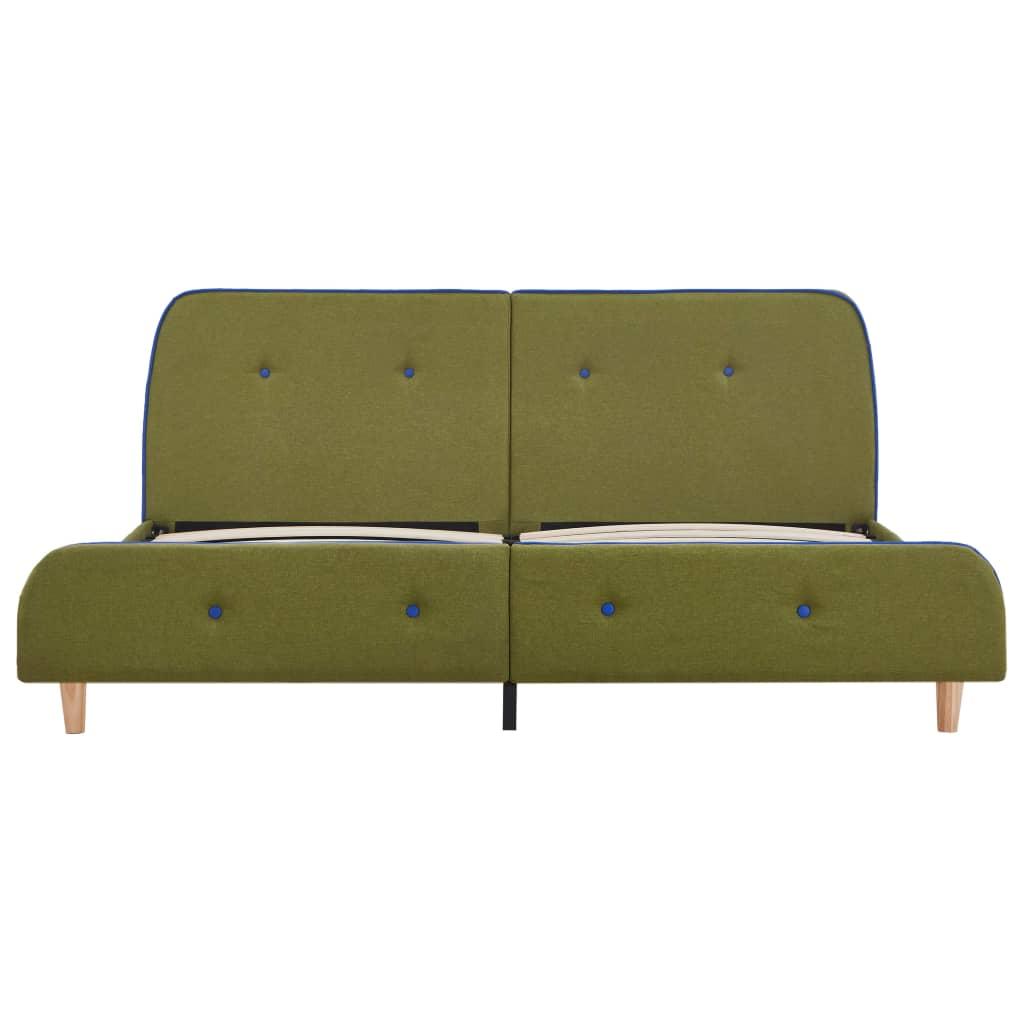vidaXL Bedframe stof groen 160x200 cm
