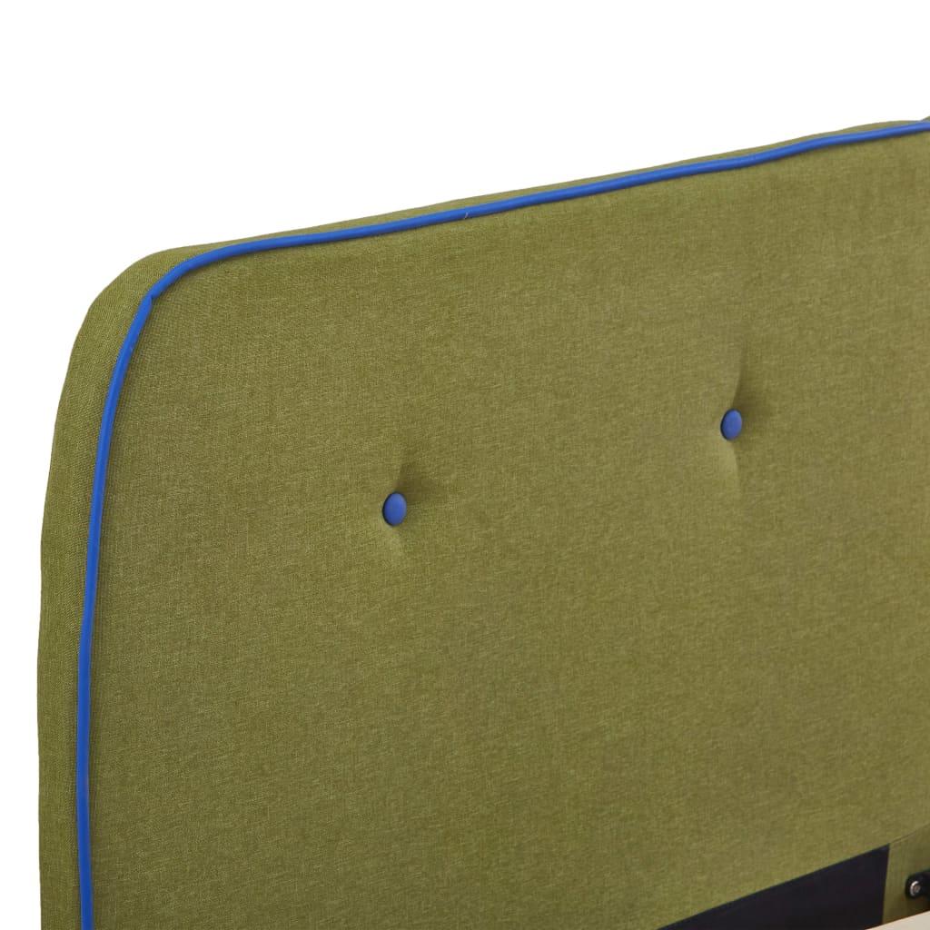 vidaXL Bedframe stof groen 180x200 cm