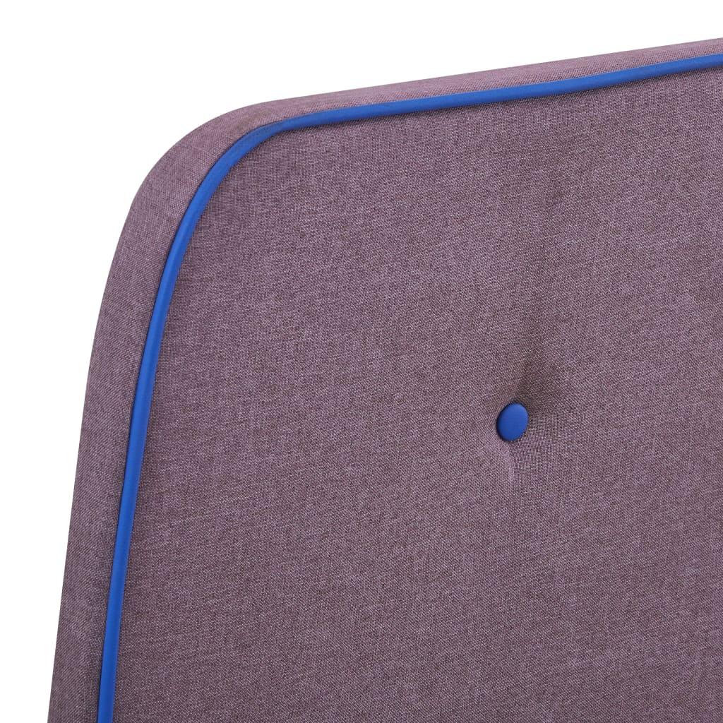 vidaXL Bedframe stof taupe 90x200 cm