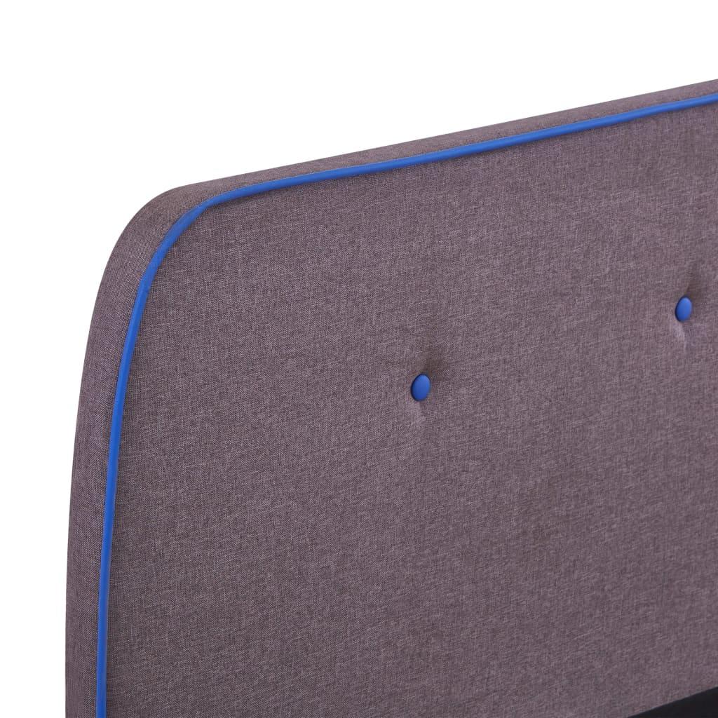 vidaXL Bedframe stof taupe 180x200 cm