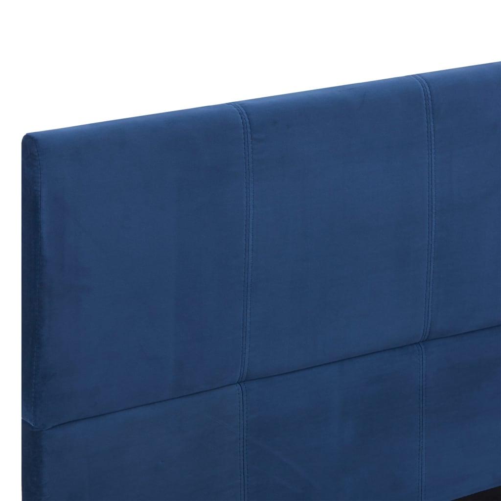 vidaXL Bedframe stof blauw 160x200 cm