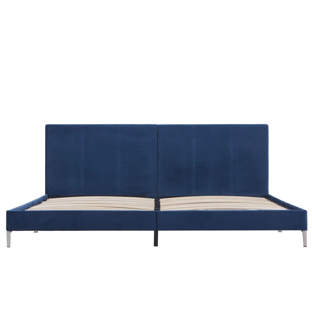 vidaXL Bedframe stof blauw 180x200 cm
