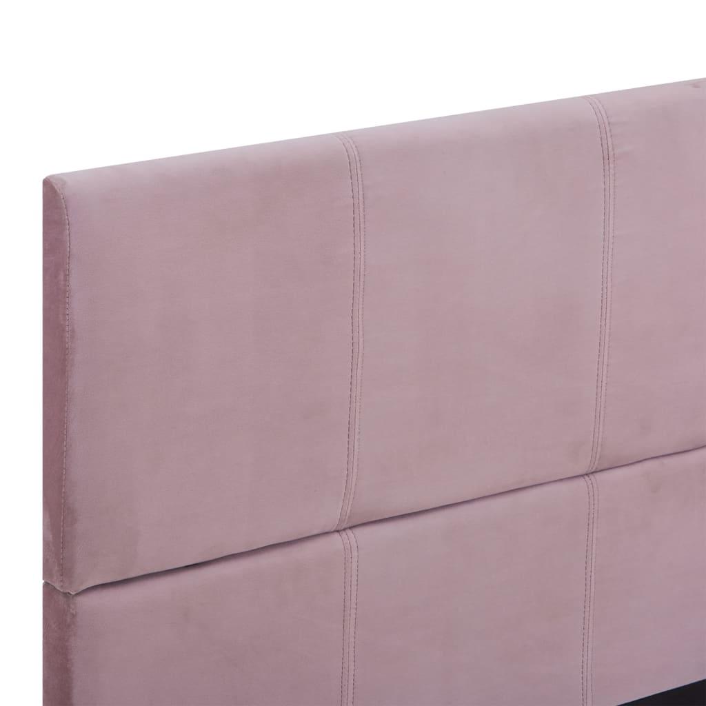vidaXL Bedframe stof roze 140x200 cm