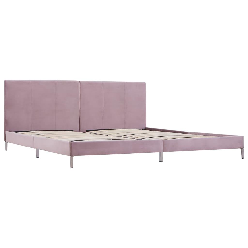 Bedframe stof roze 180x200 cm