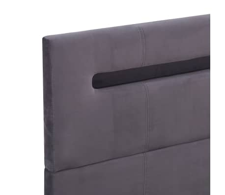 vidaXL Bedframe met LED stof grijs 140x200 cm[6/8]