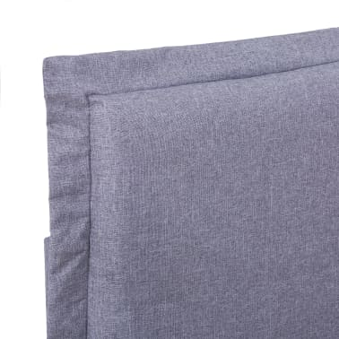 vidaXL Cadre de lit Gris clair Tissu 180 x 200 cm[5/7]