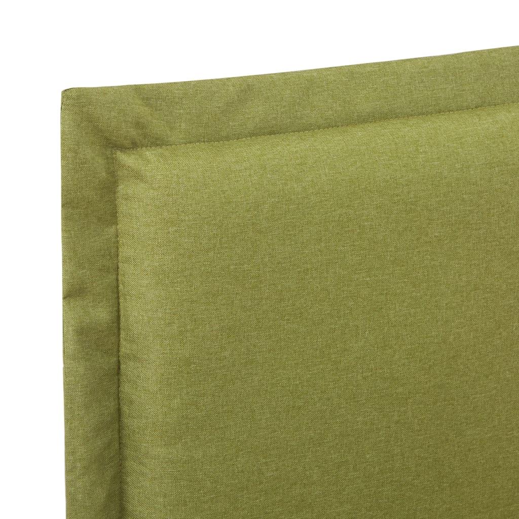vidaXL Bedframe stof groen 90x200 cm