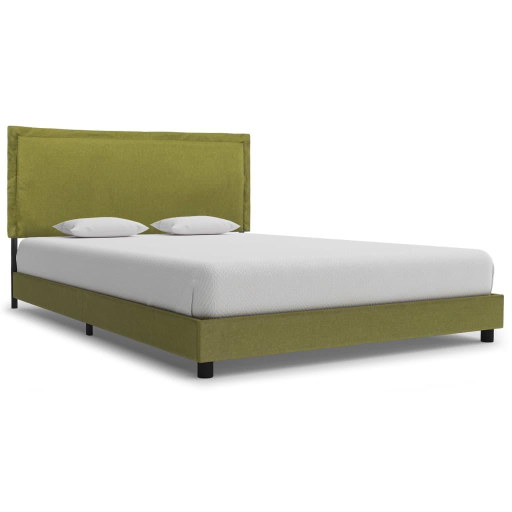 vidaXL Cadru de pat, verde, 120 x 200 cm, material textil poza vidaxl.ro