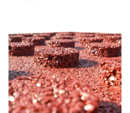 vidaXL Plytelės apsaug. nuo kritimų, 18vnt., raudonos, 50x50x3cm, guma[5/6]