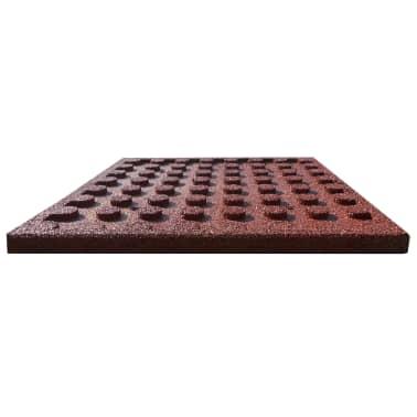 vidaXL Plytelės apsaug. nuo kritimų, 18vnt., raudonos, 50x50x3cm, guma[4/6]