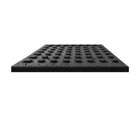 vidaXL Plytelės apsaug. nuo kritimų, 12vnt., juodos, 50x50x3cm, guma[4/6]