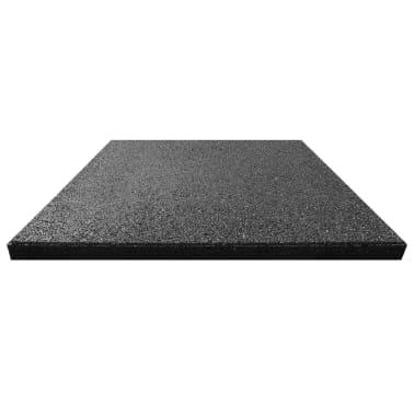 vidaXL Plytelės apsaug. nuo kritimų, 12vnt., juodos, 50x50x3cm, guma[3/6]
