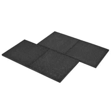 vidaXL Plytelės apsaug. nuo kritimų, 12vnt., juodos, 50x50x3cm, guma[6/6]